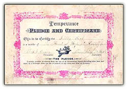 Temperencepledge